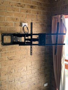 A TV Wall Mount Bracket Installed